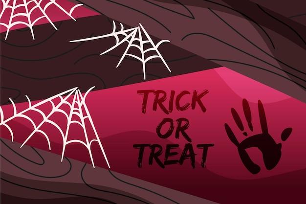 Tema di sfondo ragnatela di halloween Vettore gratuito