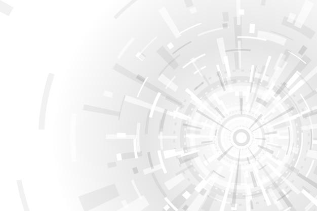 Tema di tecnologia bianco per lo sfondo Vettore gratuito