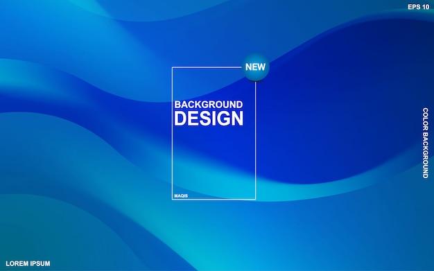 Tema liquido sfondo astratto con colore blu oceano. moderno minimal eps 10 Vettore Premium