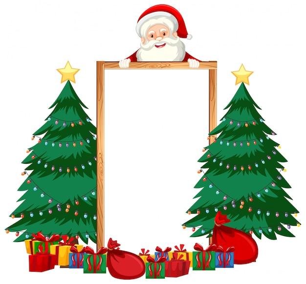 Tema natalizio con babbo natale e regali Vettore gratuito