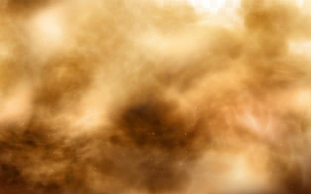 Tempesta di sabbia del deserto, nuvola polverosa marrone su trasparente Vettore gratuito