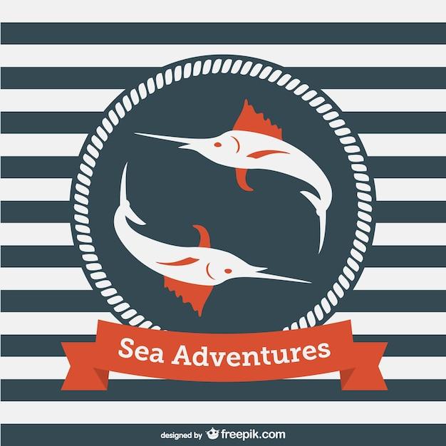 Template avventure in mare vettore Vettore gratuito