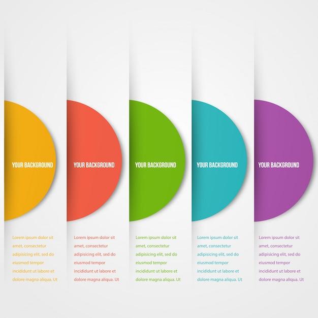 Template di circoli abstact. icona di colore. vettore. Vettore gratuito