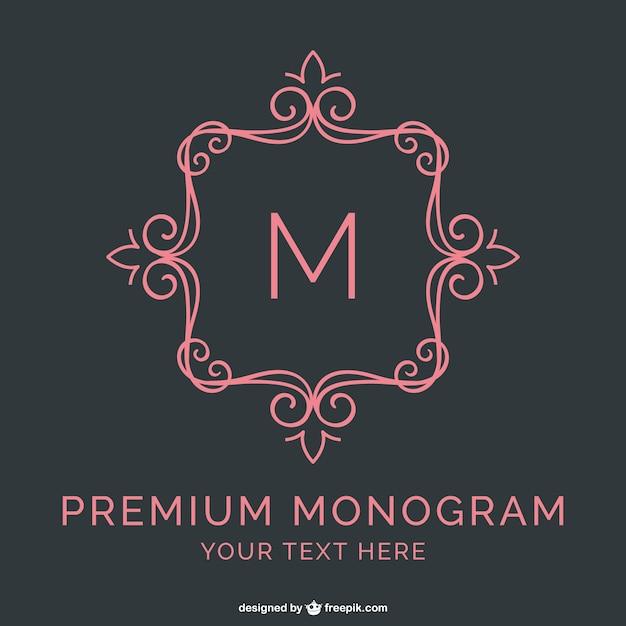 Template monogram premium Vettore gratuito