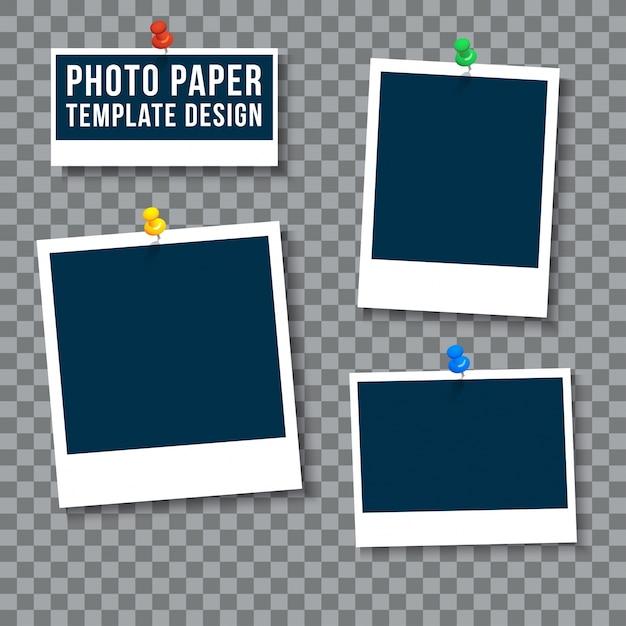 Template photo paper Vettore gratuito