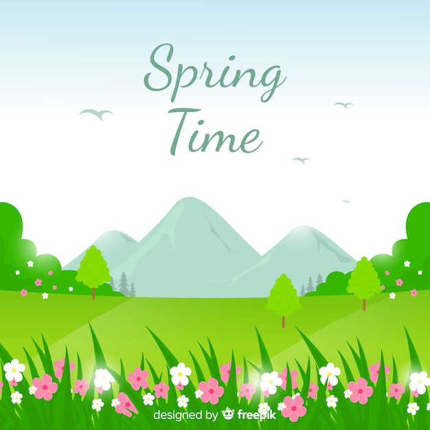 Tempo di primavera Vettore gratuito