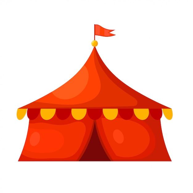 Tenda da circo dei cartoni animati Vettore Premium