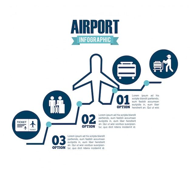 Terminal dell'aeroporto Vettore Premium