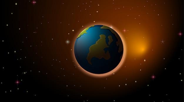 Terra nello spazio Vettore gratuito