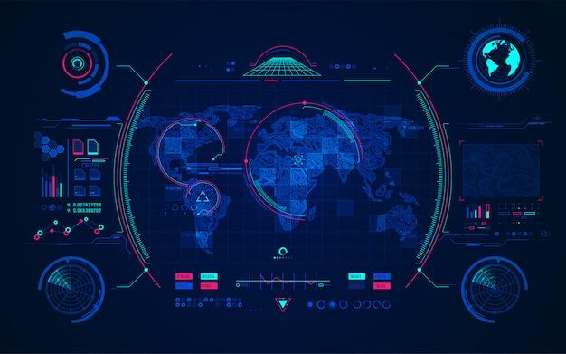 Terreno radar Vettore Premium