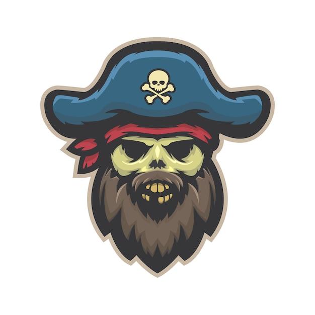 Teschio pirata Vettore Premium