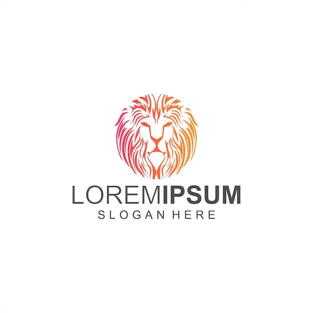 Testa di leone Vettore Premium