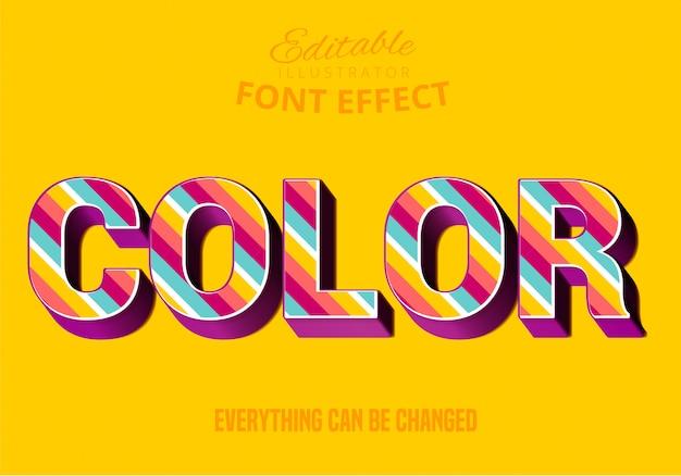 Testo a colori, stile di testo modificabile Vettore Premium
