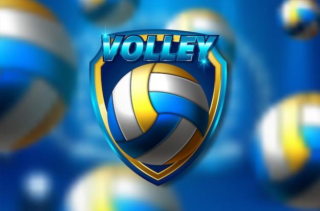 Testo di pallavolo su uno sfondo astratto Vettore Premium