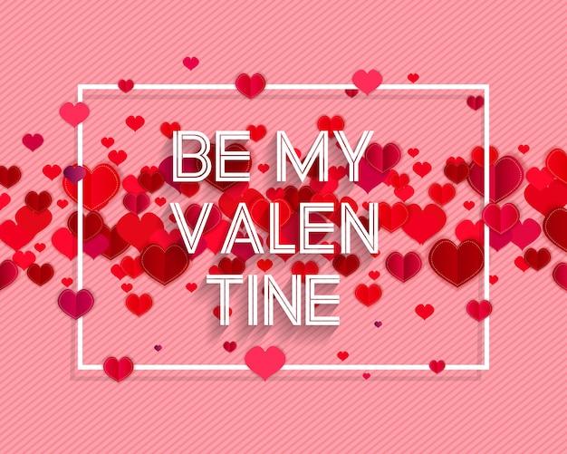 Testo di san valentino felice come distintivo / icona del logotipo di san valentino. Vettore Premium