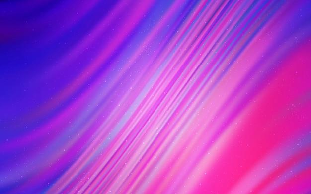 Texture vettoriale viola chiaro, rosa con stelle della via lattea. Vettore Premium