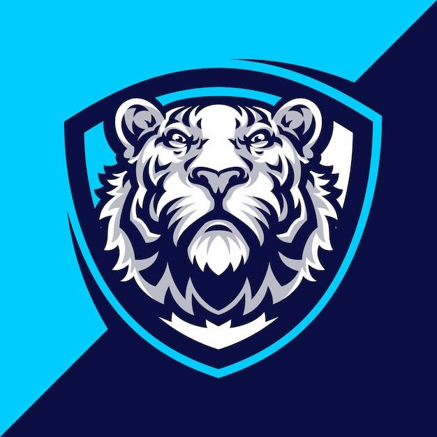 Tiger mascot logo sport. Vettore Premium