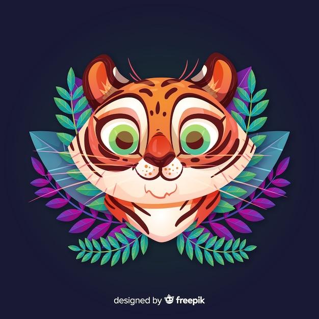 Tigre carina Vettore gratuito