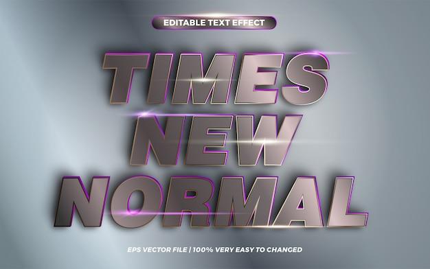 Times nuove parole normali, concetto di stile effetto testo Vettore Premium
