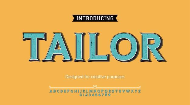 Tipo di carattere su misura. per etichette e disegni di tipi diversi Vettore Premium