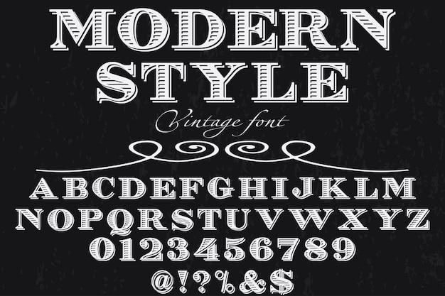 Tipografia carattere tipografico design stile moderno Vettore Premium