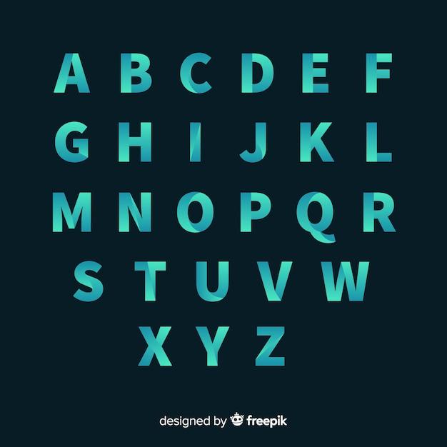 Tipografia gradiente monocromatica Vettore gratuito