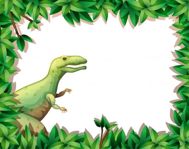 Tirannosauro sul confine della natura Vettore Premium
