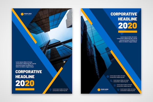 Titolo aziendale volantino aziendale 2020 Vettore gratuito