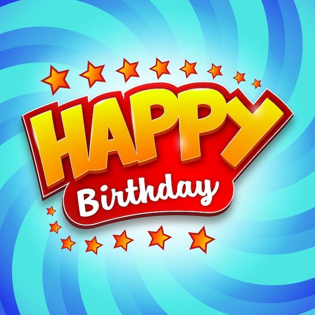 Tittle di compleanno creativo e design di sfondo Vettore Premium