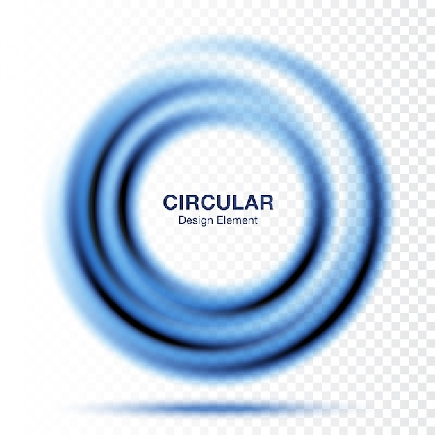 Tondo sfumato a vortice, layout di presentazione del testo. blocco per grafici blu astratto del cerchio di turbinio isolato Vettore Premium