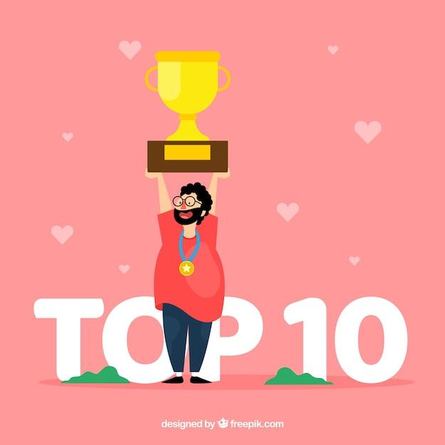 Top 10 concetto di parole Vettore gratuito