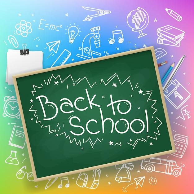 Torna a scuola banner Vettore Premium