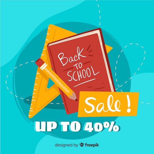 Torna al banner di vendita a scuola Vettore gratuito