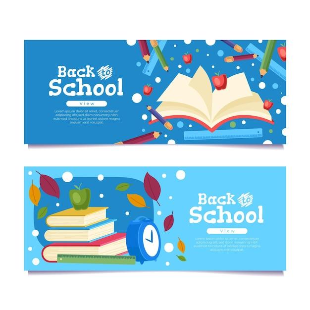 Torna al concetto di banner scolastici Vettore gratuito