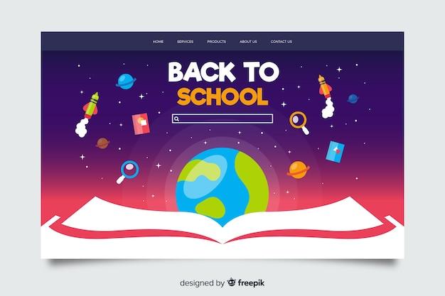 Torna al modello di pagina di destinazione della scuola Vettore gratuito