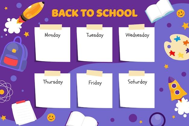 Torna all'orario scolastico Vettore gratuito