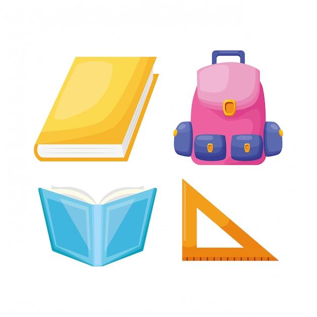 Torna alla collezione di elementi scolastici Vettore gratuito