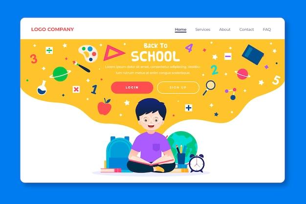 Torna alla pagina di destinazione del modello di scuola Vettore gratuito
