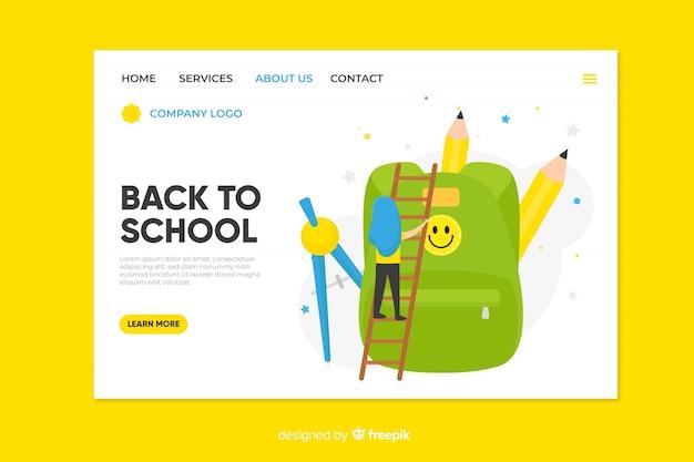Torna alla pagina di destinazione della scuola Vettore gratuito
