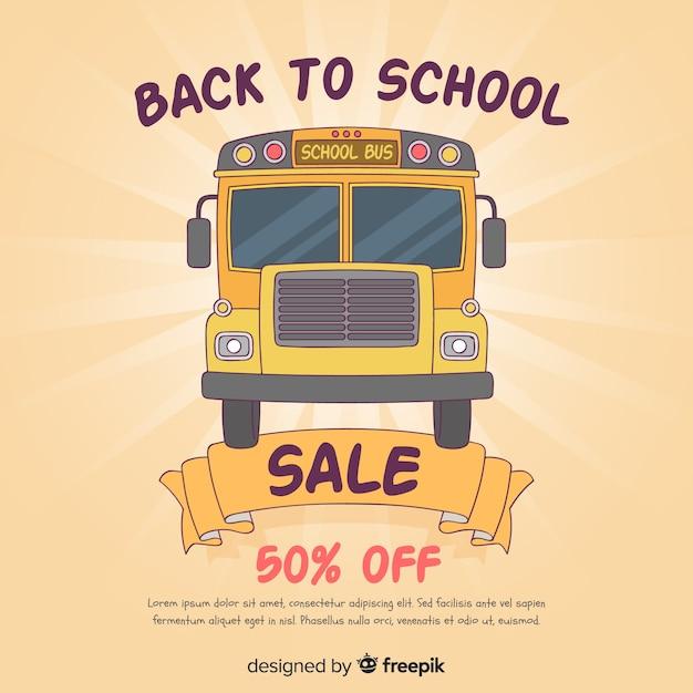 Torna alle vendite delle scuole Vettore gratuito