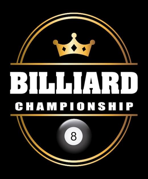 Torneo di biliardo Vettore Premium