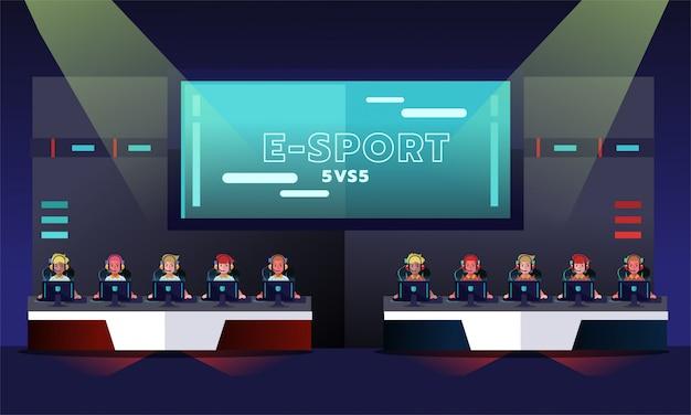 Torneo di e-sport Vettore Premium