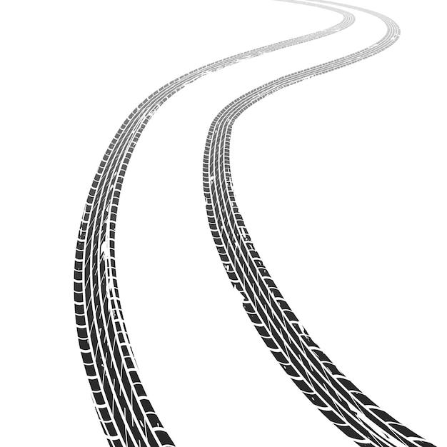 Traccia pneumatico. marcatura sporca di struttura di velocità di orizzonte di motocross del veicolo della ruota di gomma della corsa di piste della gomma di lerciume della strada Vettore Premium