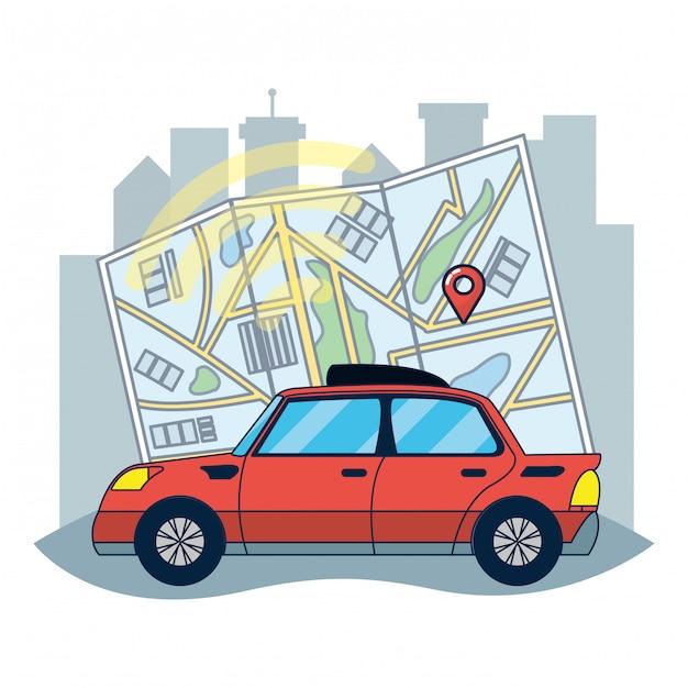 Tracciamento dei veicoli gps Vettore Premium