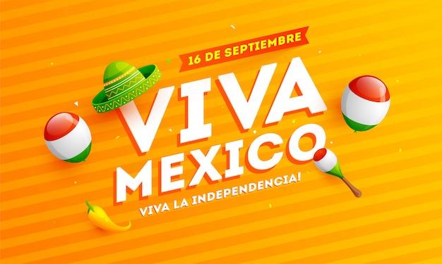 Traduzione messicana dell'iscrizione Vettore Premium