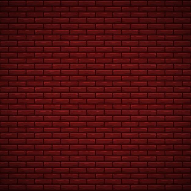 Trama di muro di mattoni rossi Vettore Premium