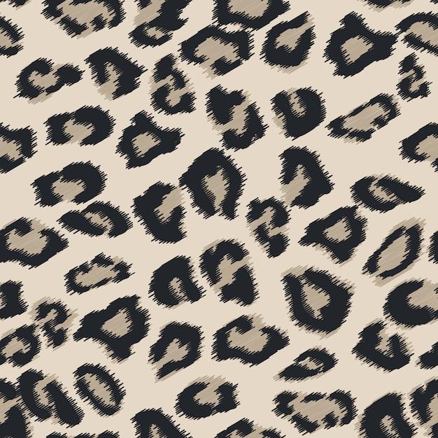 Trama di pelliccia di ghepardo senza soluzione di continuità. Vettore Premium