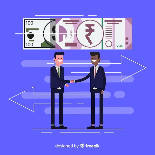 Transazione della rupia indiana Vettore gratuito