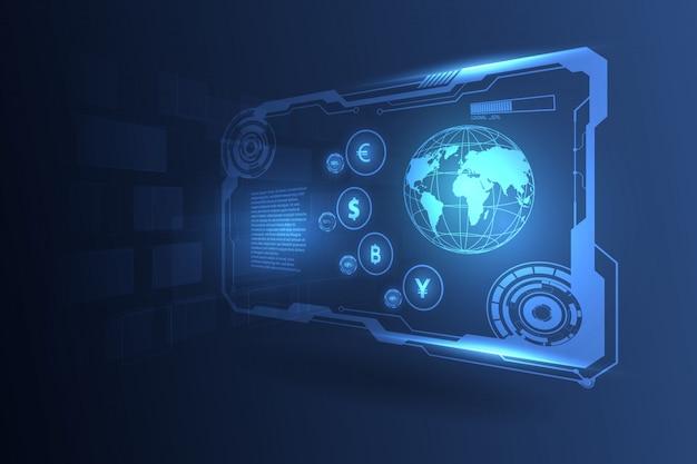 Trasferimento di valuta azioni di borsa di valuta globale Vettore Premium