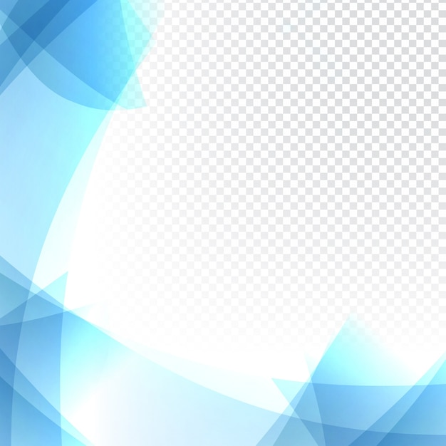 Trasparente sfondo blu ondulato Vettore gratuito